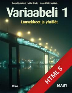 Variaabeli 1 digikirja (ONLINE, 48 kk)