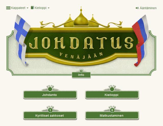 Johdatus venäjään - translitteroitu